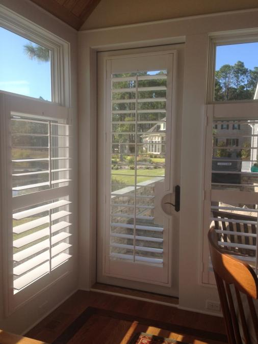 Wilmington nc blinds for Should plantation shutters match trim